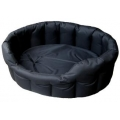 Country Dog Heavy Duty Oval Waterproof Softee Beds Black Size 5 - 76cm