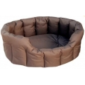 Country Dog Heavy Duty Oval Waterproof Softee Beds Brown Size 5 - 76cm