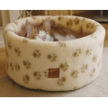 Danish Design Cat Cosy Bed Cream Fleece 42cm Small