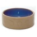 "Cane Blue Lettered Dog Bowl 10"" Mason and Cash"