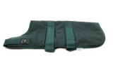 "Outhwaite Green Wax Padded 24"" Dog Coat"