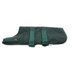 "Outhwaite Green Wax padded 28"" coat"
