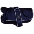 "Outhwaite Blue padded underbelly nylon 26"" coat"