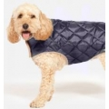 Danish Design Navy Quilted Dog Coat 45Cm 18""