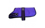 Outhwaite Purple padded Fashion lined Dog Coat 22""