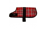 Outhwaite Red Tartan padded Dog coat 22""