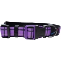 "Hem And Boo Purple Check 3/4"" X 10-14"" Padded Adjustable Collar Purple"