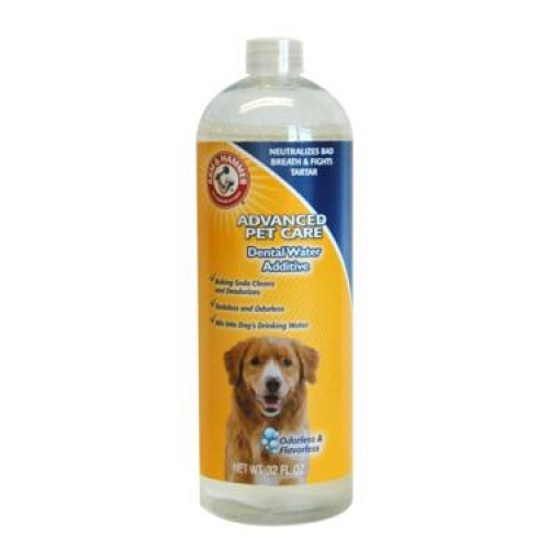 Arm hammer dental dog rinse 32oz for Dog dental water additive