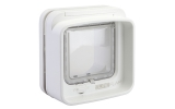 Sure Flap Dual Scan Microchip Cat Flap - White