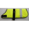"Animate 16"" Yellow Unlined Hi - Vis  Dog Coat"
