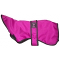 "Outhwaite 20"" Greyhound Whippet Raspberry Padded Dog Coat"