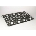 Animal Instincts Dog Mattress Black Design Paws Small 100 x 75 x 15cm