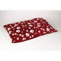 Animal Instincts Dog Mattress Red Design Paws Small 100 x 75 x 15cm