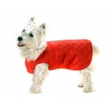 "Cosipet 12"" Red Quilted Step In Dog Coat"