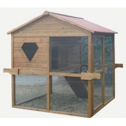Navigation pet and hen house with run 141x114x131cm