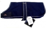 Outhwaite reflective Navy dog coat 10""