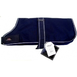 Outhwaite reflective Navy dog coat 26""