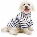 Cosipet fleece coat blue stripe 20""