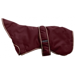 Outhwaite Maroon Greyhound padded coat 22""