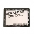 Beware of the Dog Place Mat