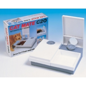 Pet Mate Cat Mate C20 Automatic Twin Meal Feeder