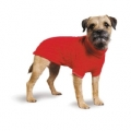 Ancol muddy paws cable knit sweater red Ex.small