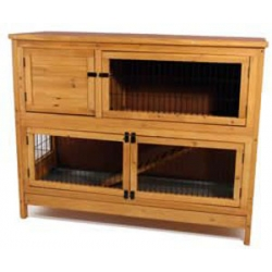 Harrisons Woodland Double Decker Rabbit Hutch 128 x 50 x 92cm