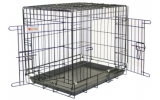 Black Dog Crate & Tray 109 x 71 x 79.5cm Vital