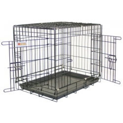 Black Dog Crate & Tray 92.5 x 57.5 x 65.5 cm Vital
