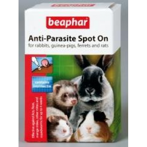 beaphar anti parasite spot on for small animals 4 pippets. Black Bedroom Furniture Sets. Home Design Ideas