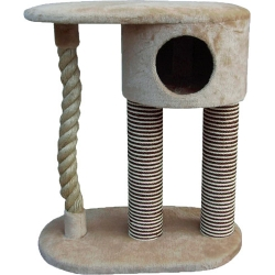 2 Tier Hideaway Sisal Cat Scratcher 83cm My Pet