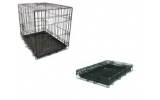 "Dog Life Dog Crate Medium Two Door Black 30"" x 19"" x 22"" -  76 x 48 x 56cm"