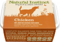 Natural Instinct Frozen Raw Selected protein additive free adult dog food