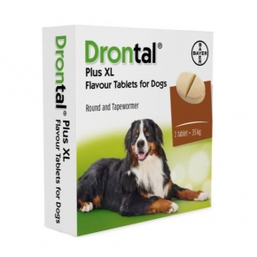 Drontal Plus XL Flavour Dog 2 Tablets