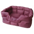Country Dog Heavy Duty Rectangular Waterproof Softee Beds Burgundy Medium 57cm