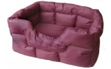 Country Dog Heavy Duty Rectangular Waterproof Softee Beds Burgundy Large 75Cm