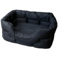 Country Dog Heavy Duty Rectangular Waterproof Softee Beds Black Large 75cm