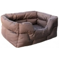 Country Dog Heavy Duty Rectangular Waterproof Softee Beds Brown Large 75Cm