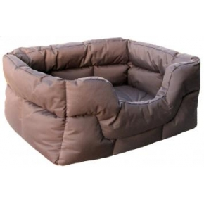 Country Dog Heavy Duty Rectangular Waterproof Softee Beds Brown Medium 57cm