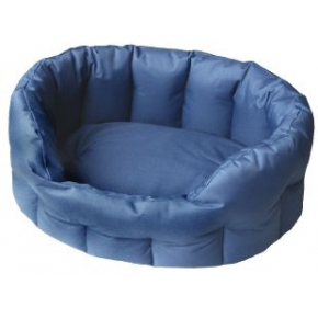 Country Dog Heavy Duty Oval Waterproof Softee Dog Bed Blue Size 5 - 76cm