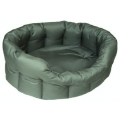Country Dog Heavy Duty Oval Waterproof Softee Beds Grey Size 4 - 61cm