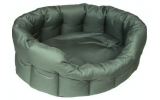 Country Dog Heavy Duty Oval Waterproof Softee Dog Bed Green Size 5 - 76cm