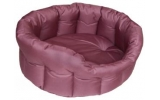 Country Dog Heavy Duty Oval Waterproof Softee Beds Burgundy Size 6 - 97cm