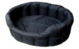 Country Dog Heavy Duty Oval Waterproof Softee Beds Black Size 4 - 61cm