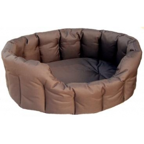 Country Dog Heavy Duty Oval Waterproof Softee Beds Brown Size 4 - 61cm