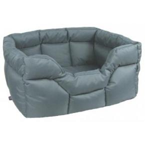 Country Dog Heavy Duty Rectangular Waterproof Softee Beds Grey Jumbo 88cm