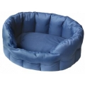 Country Dog Heavy Duty Oval Waterproof Softee Beds Blue Size 4 - 61cm