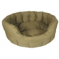 Country Dog Heavy Duty Oval Waterproof Softee Beds Sand Size 6 - 97cm