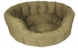 Country Dog Heavy Duty Oval Waterproof Softee Beds Sand Size 4 - 61cm