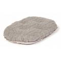 "Small+ Grey Cushion Dog Bed - Danish Design Bobble Pewter 18"" - 45cm"